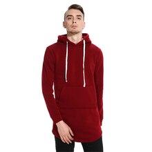 2017 New Men's Winter Hoodie Long Sleeve Hooded Sweatshirt Solid Tops Pullover Outwear Sportswear Casual Jacket Coat Clothing