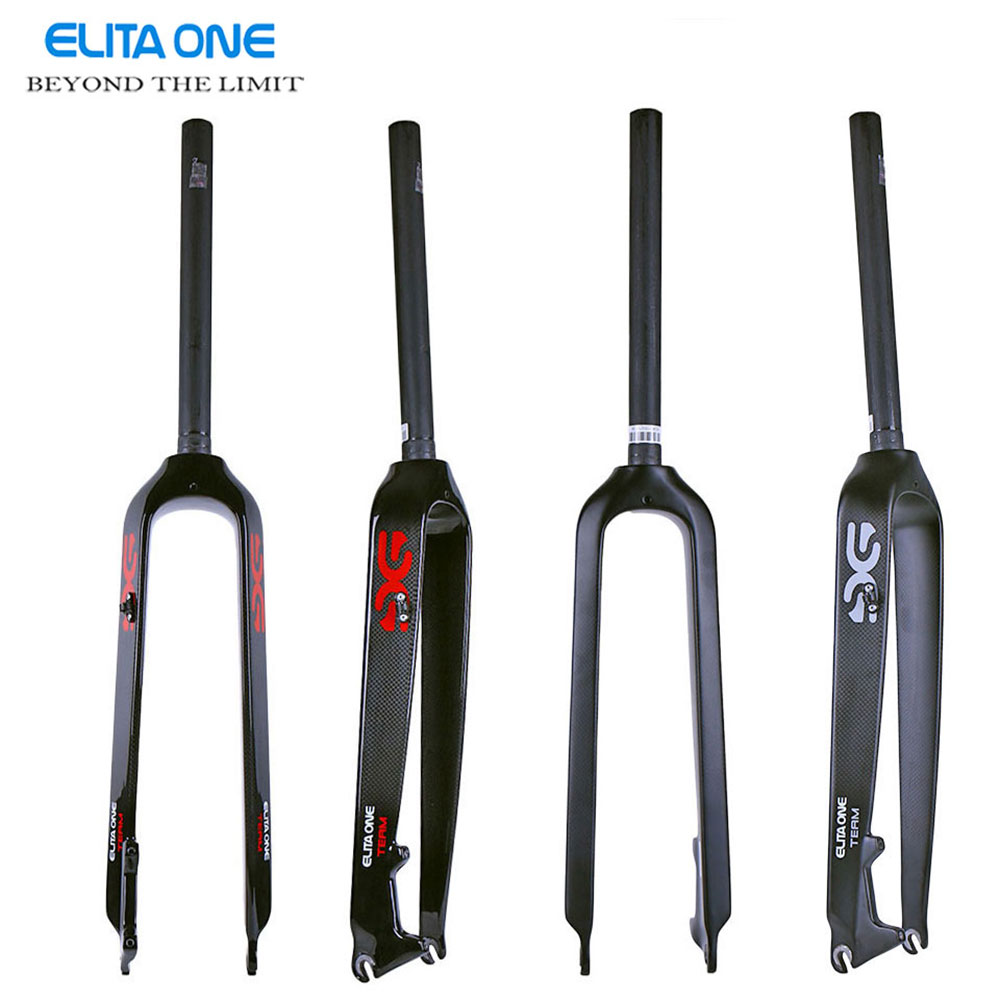 ELITA ONE Road bike UD 3k gloss/matt full carbon fibre forks bicycle forks Track bike carbon front lightest parts Free ship 2 carbon fibre road fork 700c alloy crown ud black bicycle forks fixed gear track forks bike parts 1 1 8 28 6mm tube