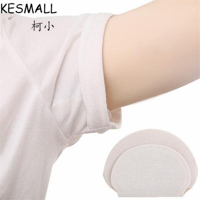 KESMALL 100 Pair Summer Deodorant Cotton Pads Underarm Armpit Sweat Pad Dress Disposable Stop Shield Guard Absorbing CO819