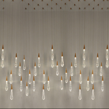 ZYY Gold Water drop Bubble Crystal Creative Pendant Light European-style Luxury LED Lamps Glass Indoor Lighting Restaurant
