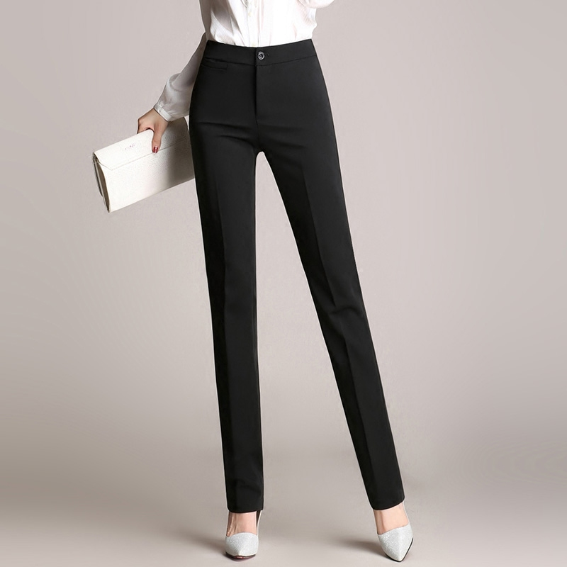 Cool  Dress Pants Grey Trousers Work Outfits Leg Work Cute Pants Women Pants