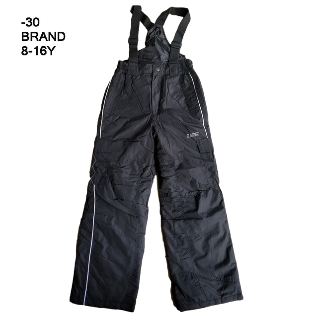 brand kids winter ski pants suits -30 degrees fleece lining waterproof windproof children snowsuits boys winter pants