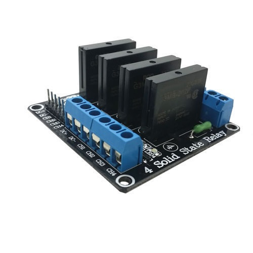 5V 4 CH <font><b>OMRON</b></font> <font><b>SSR</b></font> <font><b>G3MB</b></font>-<font><b>202P</b></font> Solid Relay Module with Resistive Fuse For Arduino image