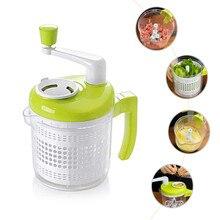 Usuful Kitchen Manual Food Processor Meat Grinder Machine Vegetable Chopper Egg Divider Making Salad Sandwich Green