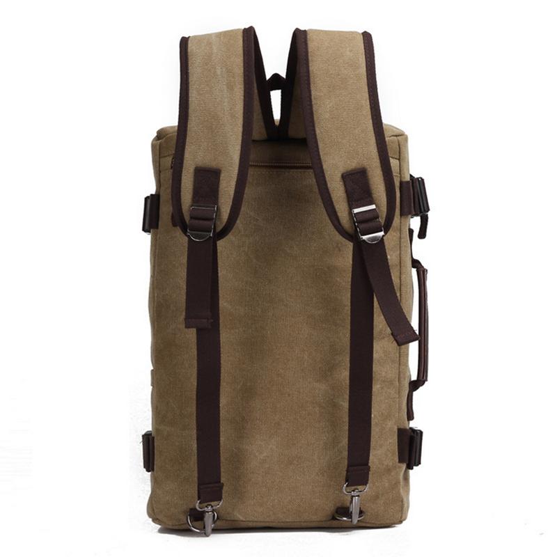 Senkey Style Fashion Large Capacity Rucksack Men's Canvas Backpack Multifunction Leisure Travel Men's Laptop Backpacks Bag #5