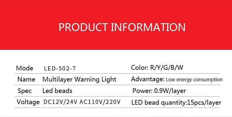 luz de advertência do diodo emissor de