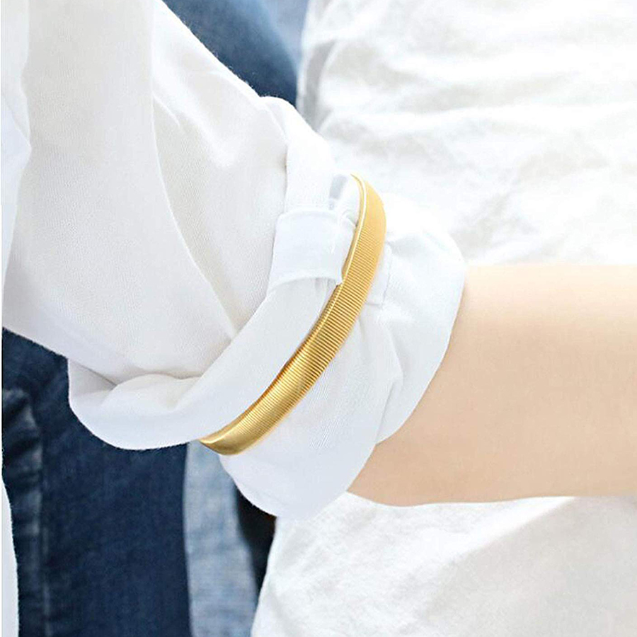 Confident 1 Pair Stretchy Elastic Elasticated Metal Shirt Sleeve Holder Garters Arm Bands Men's Arm Warmers