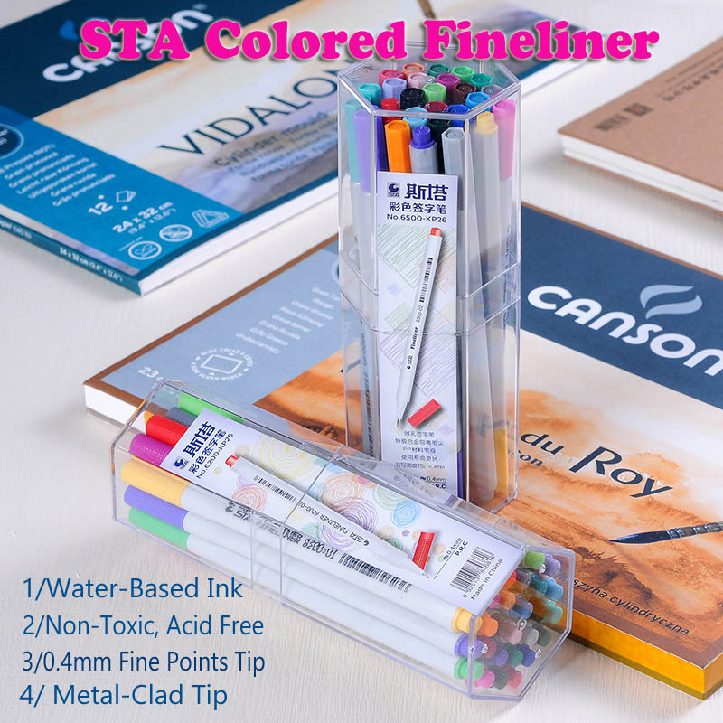 sta coloring fine liner markers Needle Pen set 18 26 color 0.4mm fineliner pigma micron watercolor Fine Point marker draw liner promotion touchfive 80 color art marker set fatty alcoholic dual headed artist sketch markers pen student standard