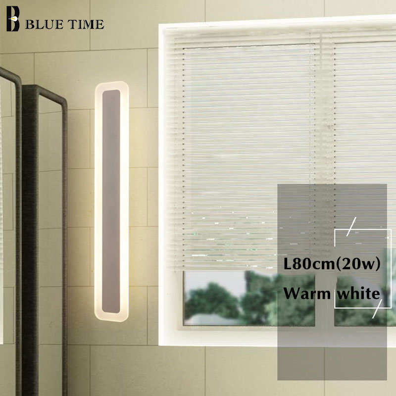Image 3 - Acrylic Bathroom Mirror Front Light LED Wall Lamp Lustres For Bathroom Bedroom Wall Sconce Wall Lights Luminaria 120 100 80 60CM-in LED Indoor Wall Lamps from Lights & Lighting