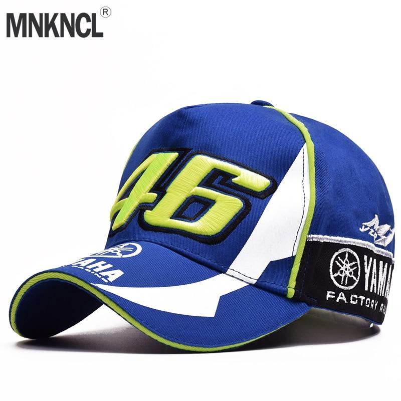 Moto Gp Rossi 46 Stickerei Einstellbare Racing Motorrad Hysteresenhut Baseball-kappen Freizeit Baseball-kappen Camisetas Moto Gp