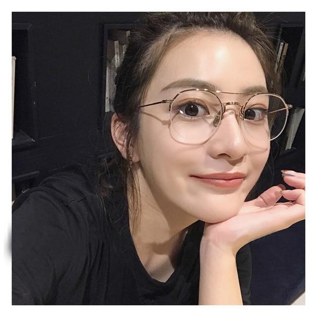 0ec84615b BOYEDA Prescrição Armações De Óculos Redondos Do Vintage para Mulheres Dos  Homens do Metal Óculos Moldura