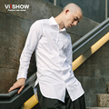 VIISHOW Men Dress Shirt Slim Fit Social Business White Shirt Casual Long Sleeve Brand Print Cotton Fashion Blouse CC15563