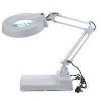 10X Loupes Glass Lens Diopter Desk Table Lighting LED Magnifier Lamp Light 110V/220V Ship from USA