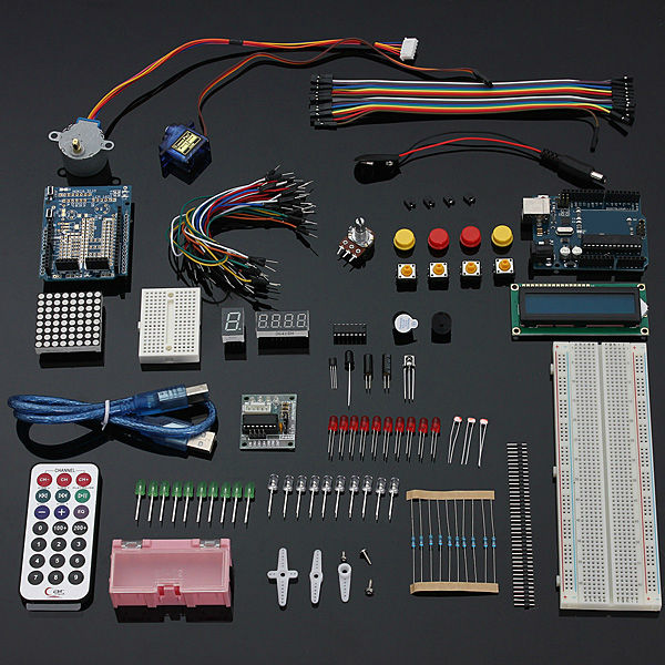 DIY UNO R3 Starter Kit with LCD1602 Servo Buzzer For Arduino spare parts kit favourite 1602 1f