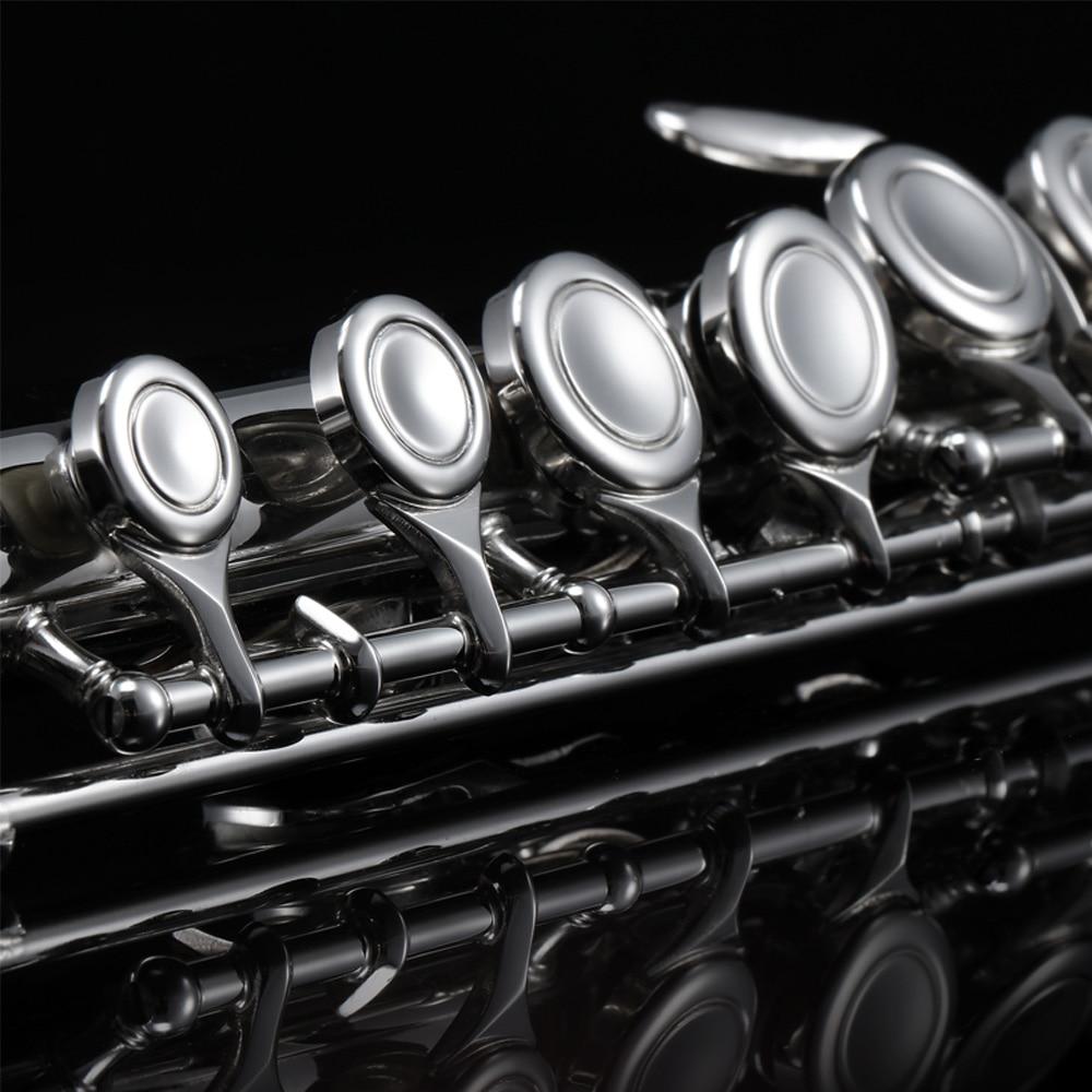 Eastar EFL-1 Closed Hole C Flutes 16 Key Nickel Beginner Flute Set With Carry...