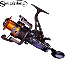 Sougayilang Carp Fishing Reel 10BB 5.2:1 Full Metal Body Trolling Fishing Wheel Carretilha Molinete Spinning Fishing Reel Pesca