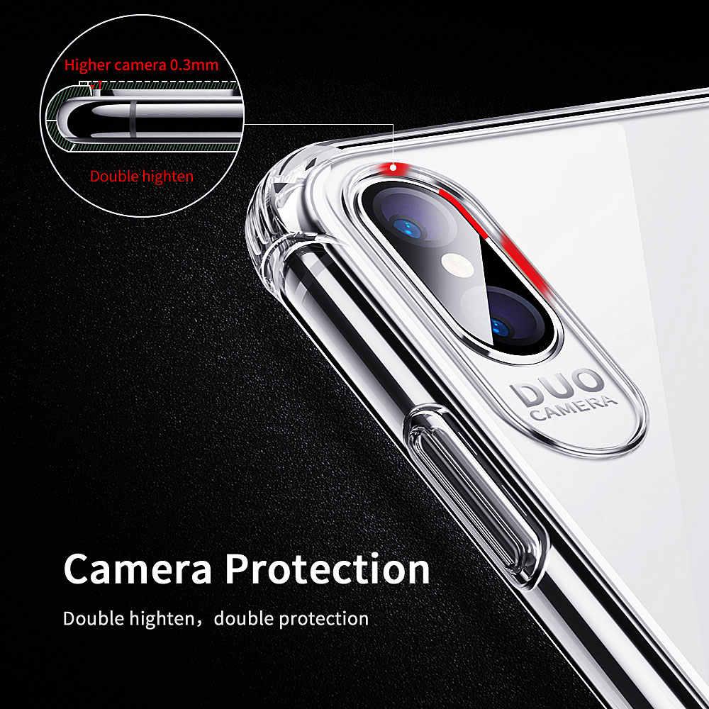 Essager a prueba de golpes a prueba de caja del teléfono para iPhone XS Max XR 8X8 7 6 6S Plus SE 5 5 5S SE funda de silicona de lujo 8plus para iPhone 7plus Coque
