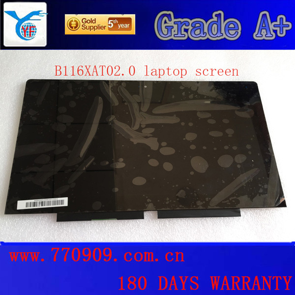 Original 11.6 B116XAT02.0 laptop touch screen assembly without bezel FRU 18200892 for IDEAPAD YOGA 11 11S