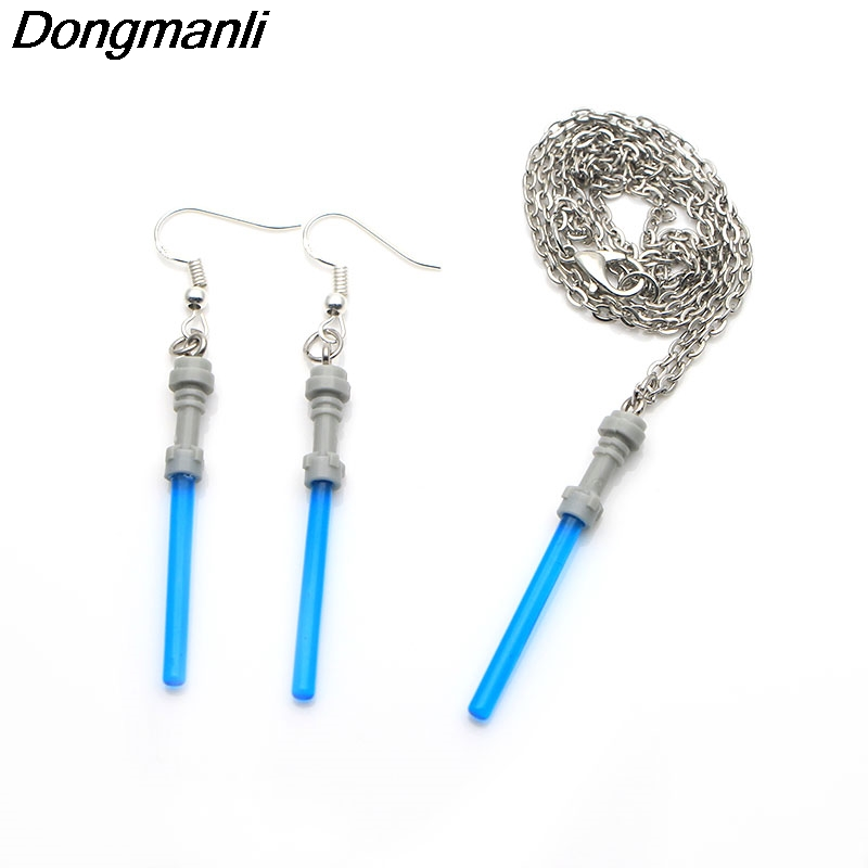 M312 Dongmanli Movie Star War Lightsaber Drop Earrings Vintage Style Metal Alloy Jewelry women earring set