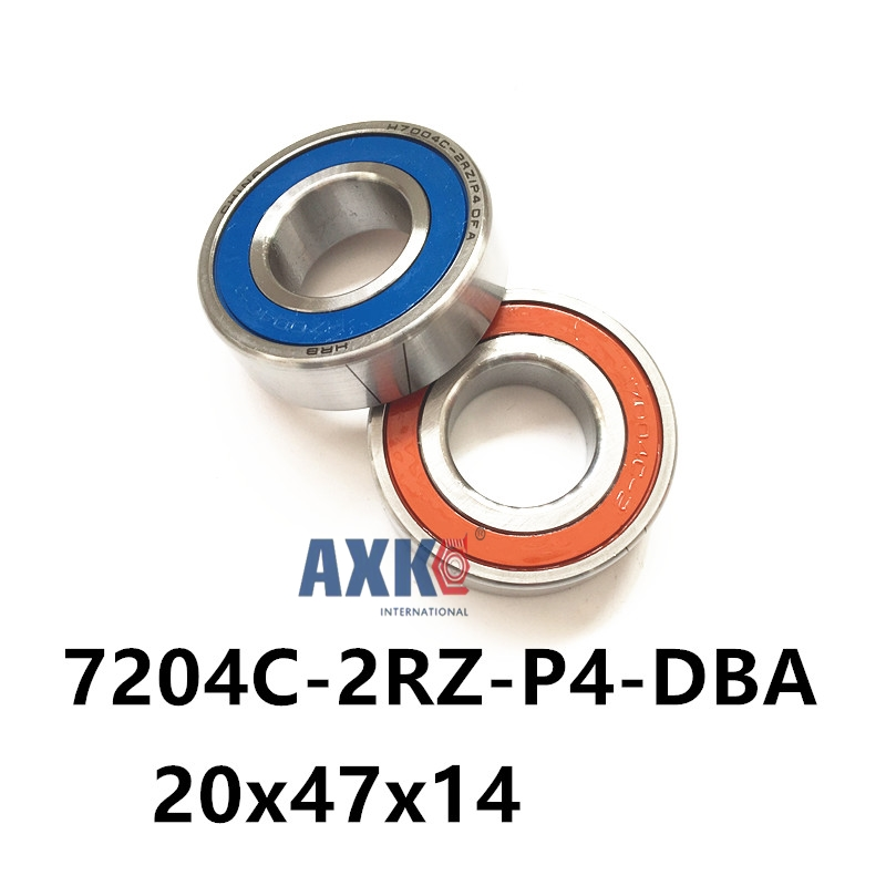 1 pair AXK  7204 7204C-2RZ-P4-DBA 20x47x14 Sealed Angular Contact Bearings Speed Spindle Bearings CNC ABEC 7 Engraving machine 1pcs 71901 71901cd p4 7901 12x24x6 mochu thin walled miniature angular contact bearings speed spindle bearings cnc abec 7