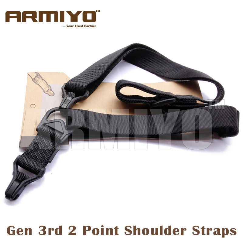 Armiyo 3rd Gen 2 Point Multi Mission Harnesses Hunting Airsoft Shoulder Straps Gun Sling Shooting Paintball Accessories