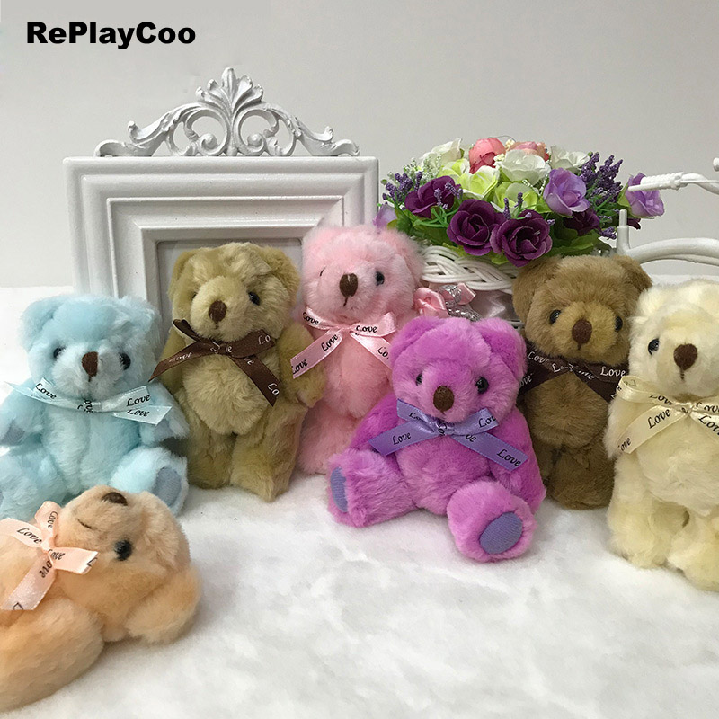 25pcs Teddy Bear Plush Toys Tedy Bear 13CM Soft Toys For Children Kawaii Plush Toy Joint Teddy Bear Stuffed Animals Gifts J08801