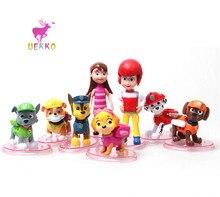 UEKKO Anime 8 unids/set Patrulla Canina Perro Juguetes Del Coche del Perrito de Juguete Patrulla Canina Funko Pop Figura de Acción de Modelo Colección de Juguete de Niño regalo