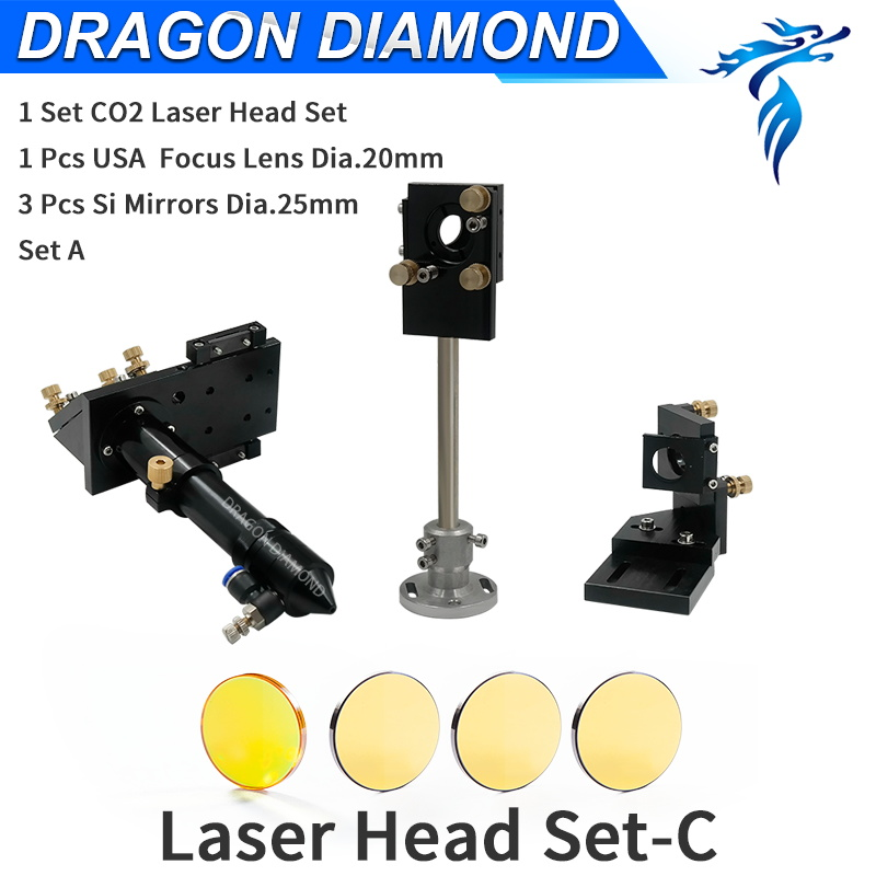 цена на CO2 Laser Head Set C Lens 20mm Integrative Mounts & Reflective Mirror 25mm For Laser Engraving Cutting Machine