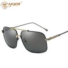 YUW alta calidad de los hombres diseñador de la marca gafas de sol polarizadas lente de metal marco de conducción gafas de sol gafas de sol oculos 384