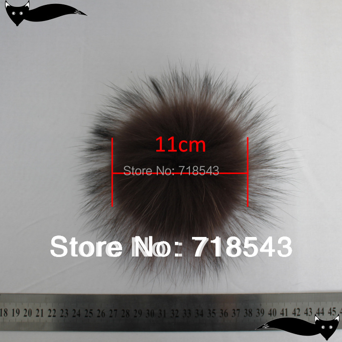 2PCS / LOT რეალური Raccoon რბილი - ტანსაცმლის აქსესუარები - ფოტო 4