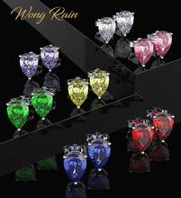 Серьги гвоздики wong rain серьги из стерлингового серебра 925