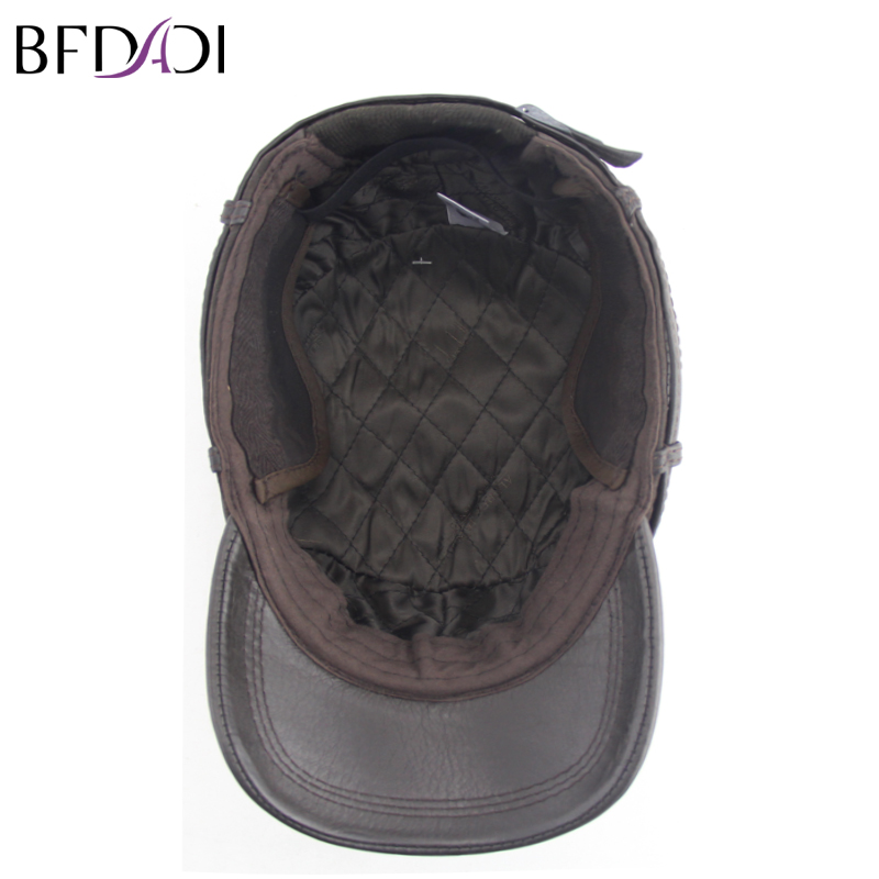 dc8a003045a BFDADI New Fashion High Quality Fall Winter Men Faux Leather Hat Cap Casual  Snapback Hat Mens Baseball Cap Big Size 62cm Brown-in Baseball Caps from  Apparel ...