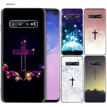 Jesus Christ Christian Cross Black Silicone Case for Samsung Galaxy M20 S10e S10 S9 M10 S8 Plus 5G S7 S6 Edge Cover Coque