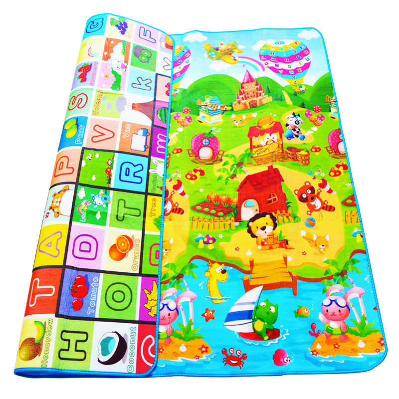 Двухсторонний детский игровой коврик 0,5 см Eva пена развивающий коврик для детского коврика детские игрушки тренажерный зал игра ползающий спортзал игровой коврик подарок