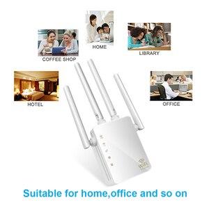 Image 3 - Kebidu 2,4G/5G Беспроводной Wi Fi ретранслятор двухдиапазонный AC 1200 Мбит/с 4 антенны Усилитель мостового сигнала проводной маршрутизатор Wi Fi доступ