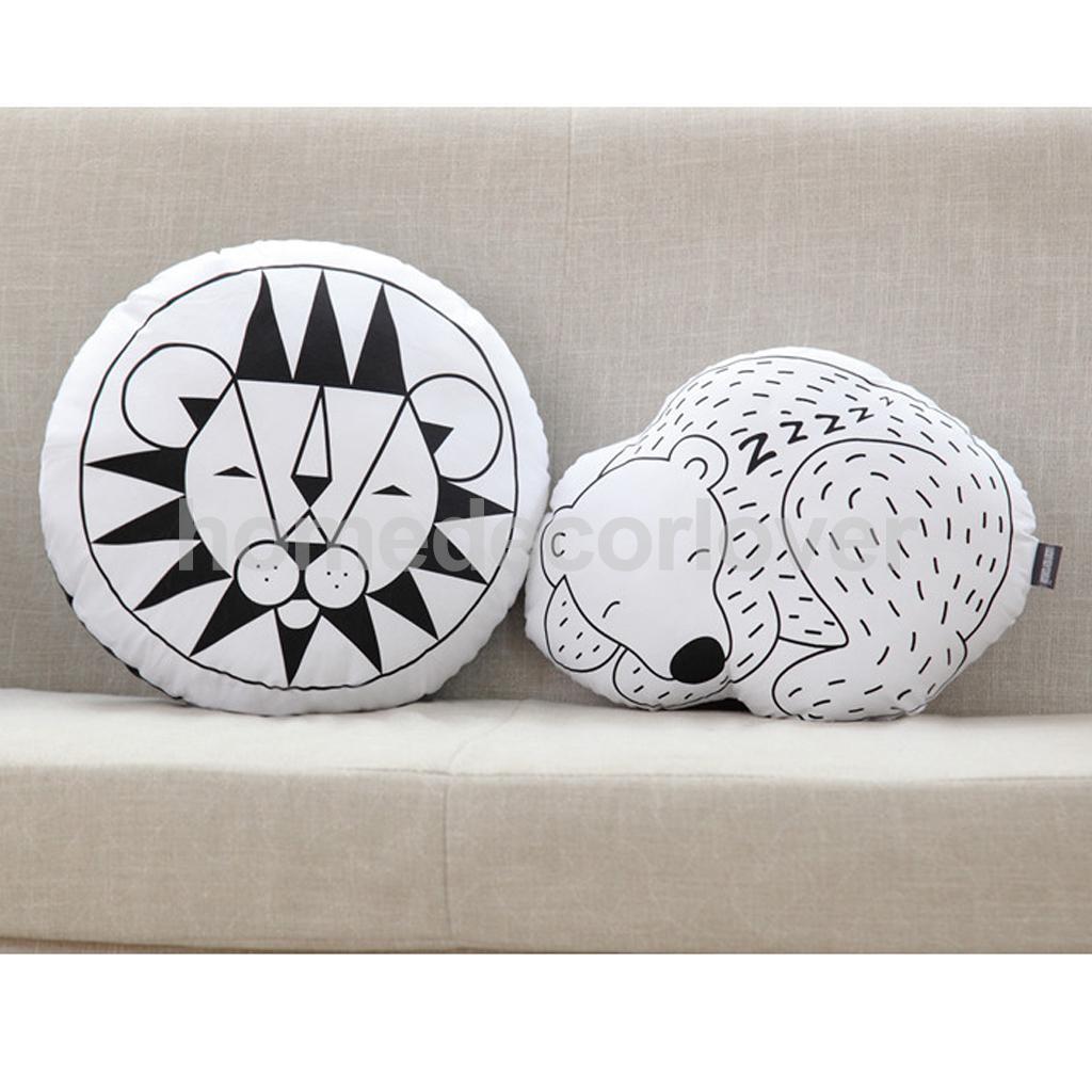 Cute Animal Design Pattern Baby Kids Children Sleep Play Soft Stuff Cushion Pillow Gifts