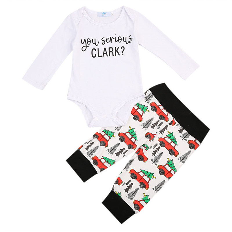 2Pcs Toddler Infant Baby Girls Clothes Summer Short Sleeve Romper Playsuit Cartoon Long Pants Outfits Baby Clothing Set