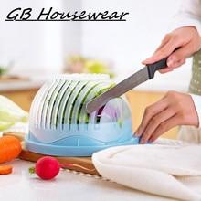 60 Seconds font b Salad b font Cutter Bowl Wave Shape Easy font b Salad b