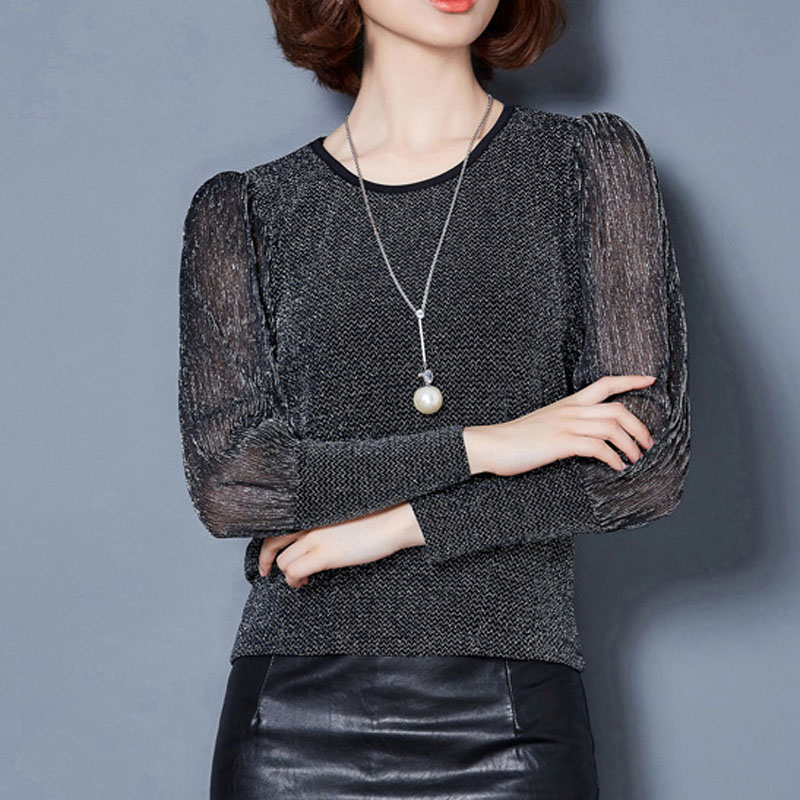 2018 Spring Summer women New lace shirt Plus size M-3XL blouse Autumn basic long sleeve shirts tops black green wine red 1