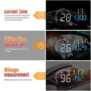Image 4 - New Car HUD Head Up Display OBD 2 II On board Auto Car Computer C600 Digital Speedometer OBD2 Projector Driving Fuel Consumption