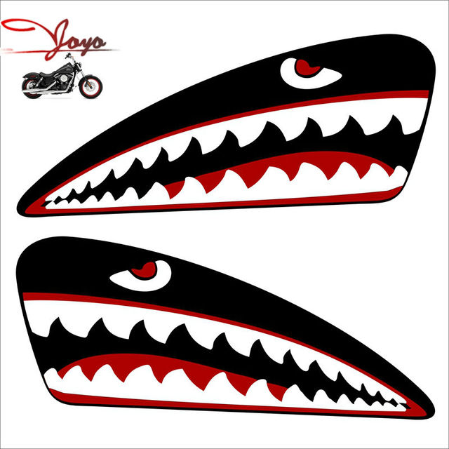 Aliexpress Com Buy Motorcycle Gas Tank Decal Shark