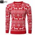 Blusas de natal Veados Padrão Camisola Dos Homens de Lazer 2017 Novos Homens de Inverno Jumper De Malha O-pescoço Masculino Pullovers Malhas
