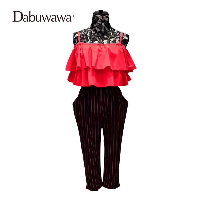 Dabuwawa Brand Rompers Women Jumpsuit Shorts Flounce Off Shoulder Jumpsuit Ruffle Classic Elegant Jumpsuit Party Long #D15BJP009 ...