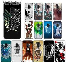 MaiYaCa Anime Japanese attack on Titan Colorful Cute Phone Case for Samsung Galaxy S7edge S6 S10 Lite S10Plus S10E S8 S7 S9 Plus(China)