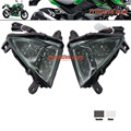 De alta calidad accesorios de la motocicleta led frontal de señal de vuelta luz indicadora para kawasaki z750 z1000 2007-2009 humo