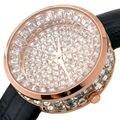 Top de Lujo Lleno de Diamantes Reloj de Las Mujeres Del Rhinestone de Bling Relojes Ladies Relojes de Moda Horas relogio feminino montre femme