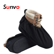 Thicken Dust Water Proof Shoe Covers Reusable for Men Women Indoor Sanitary Cleaning Anti-slip Overshoe Protector Shoes Boot(China)