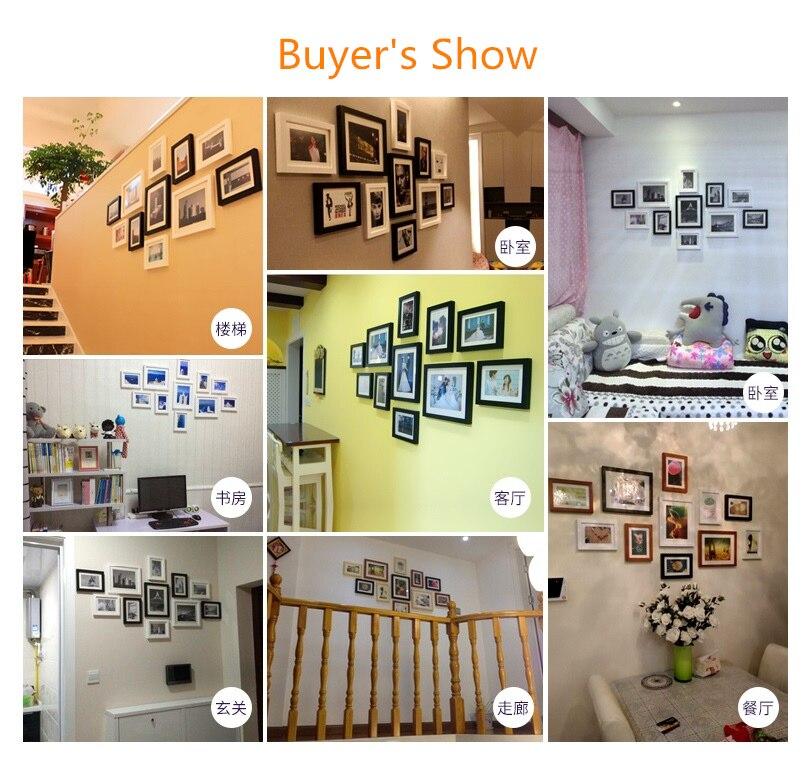 Ev ve Bahçe'ten Çerçeve'de 11 adet Modern Klasik Beyaz ve Siyah Çerçeveleri Set Ev Dekor için Duvar Fotoğraf Çerçeveleri Kombinasyonu Aile Resim Çerçevesi marcos para fotoğraf'da  Grup 2