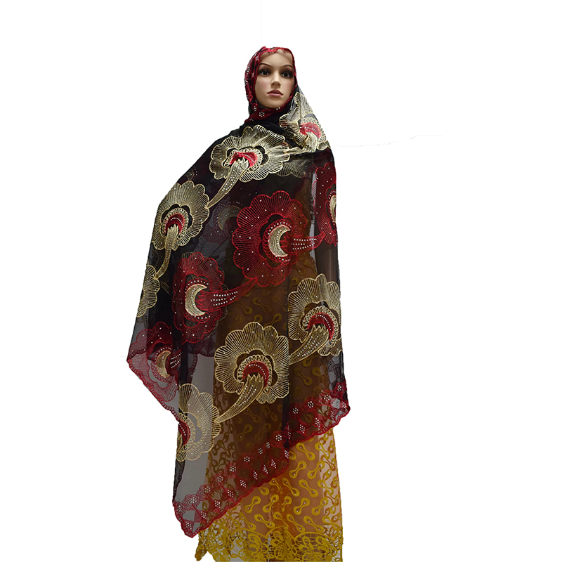 African women   scarf  ,Muslim women embroidery net   scarf   ,2019 New multifunctional   scarf   for pashmina/shawls/  wraps