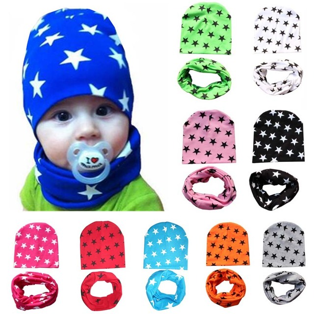a7a4e85b 2 Piece/ Set Hat Scarf Gloves Baby Winter Cap Star Beanie Warm Hats for  Children Neck Warmer Photography Props